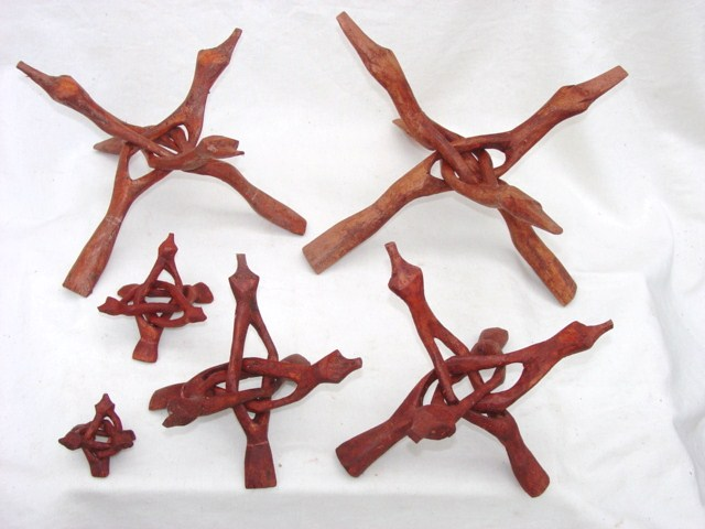 Carved Wooden display stands 2 inch - 12 inch