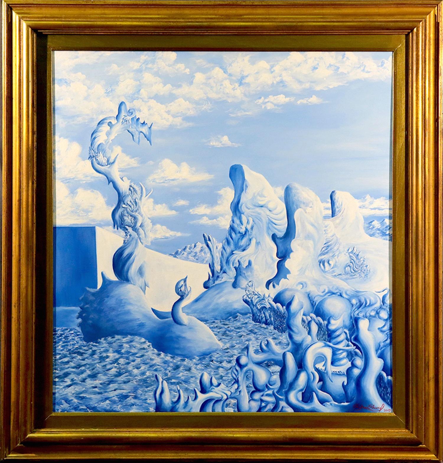 Contemporary Monochrome Blue Sea Scape, 2007   Sold