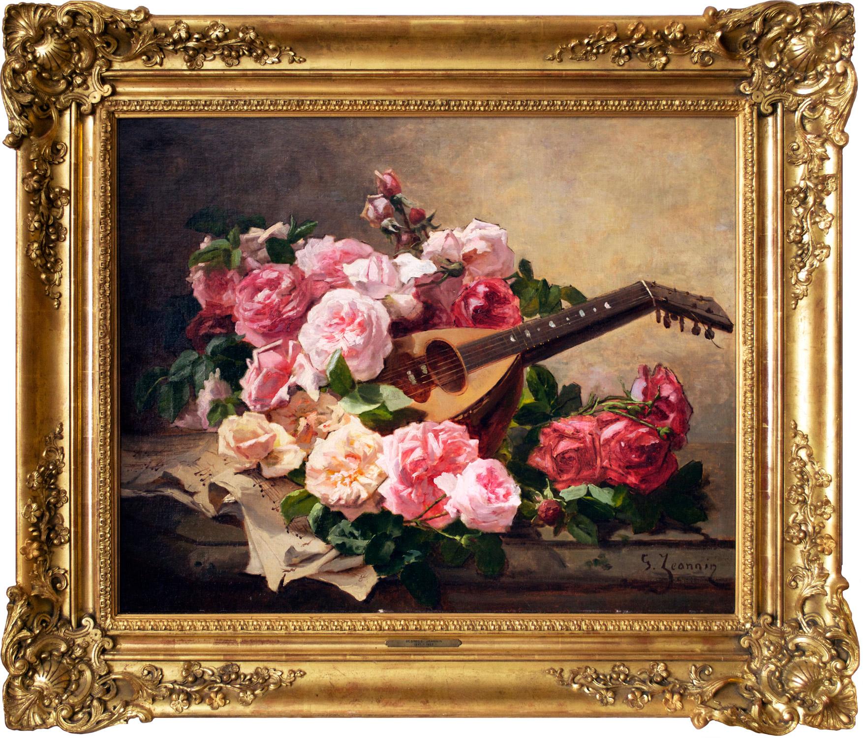 Still life with Roses and Mandolin, Circa 1900