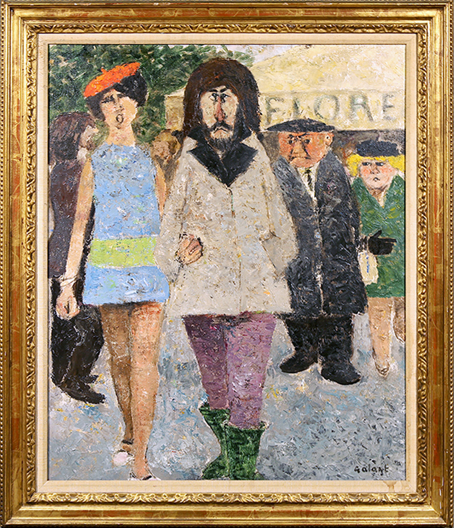 Couple Strolling Through Paris
