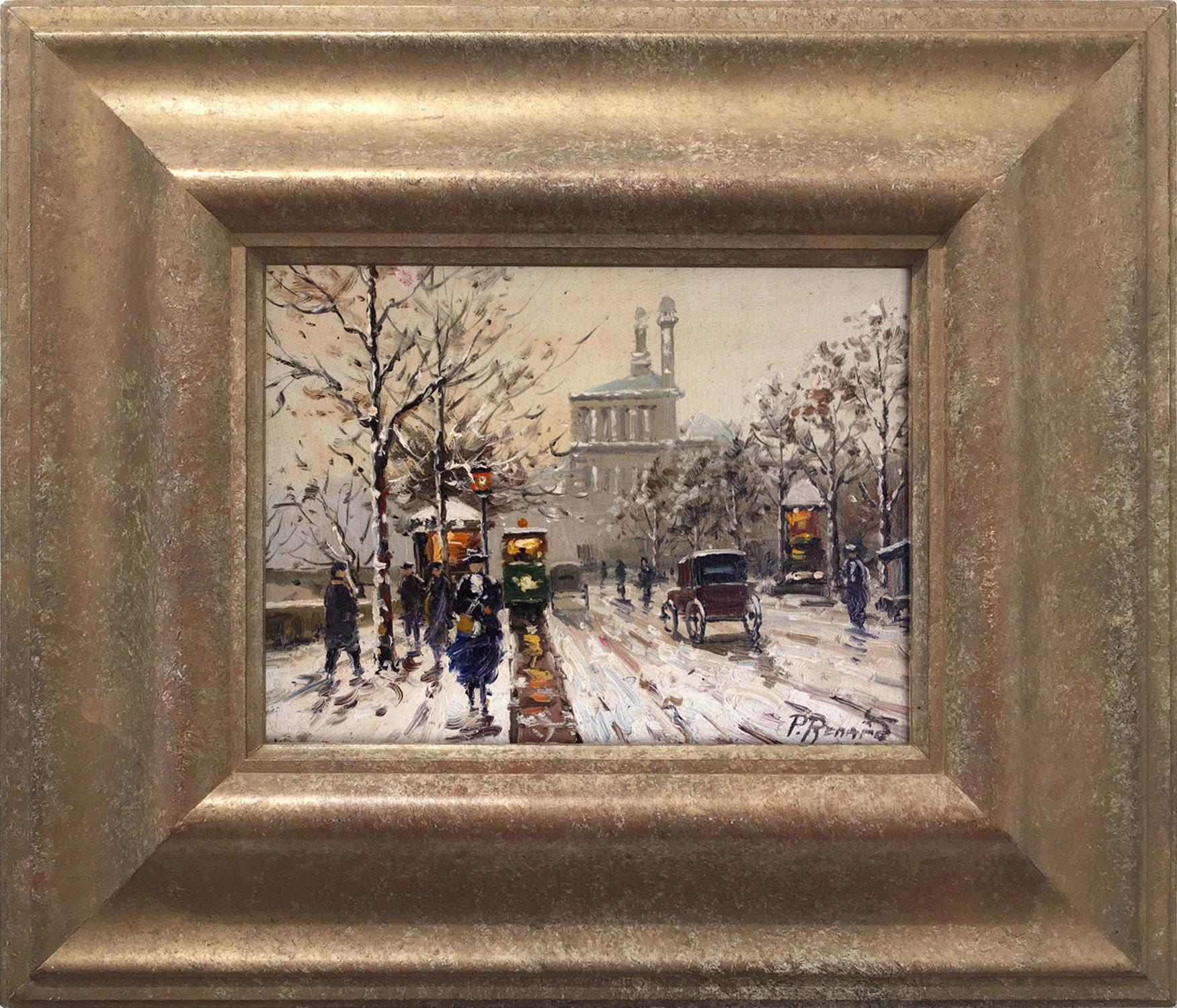 Parisian Winter Street Scene, 20th Century