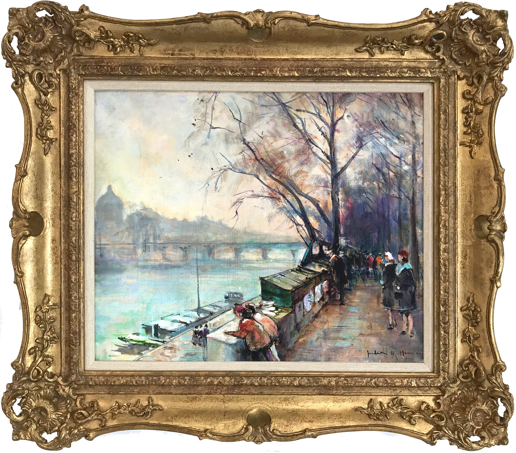 """An Afternoon Along the Seine, Paris"" Early 20th Century"