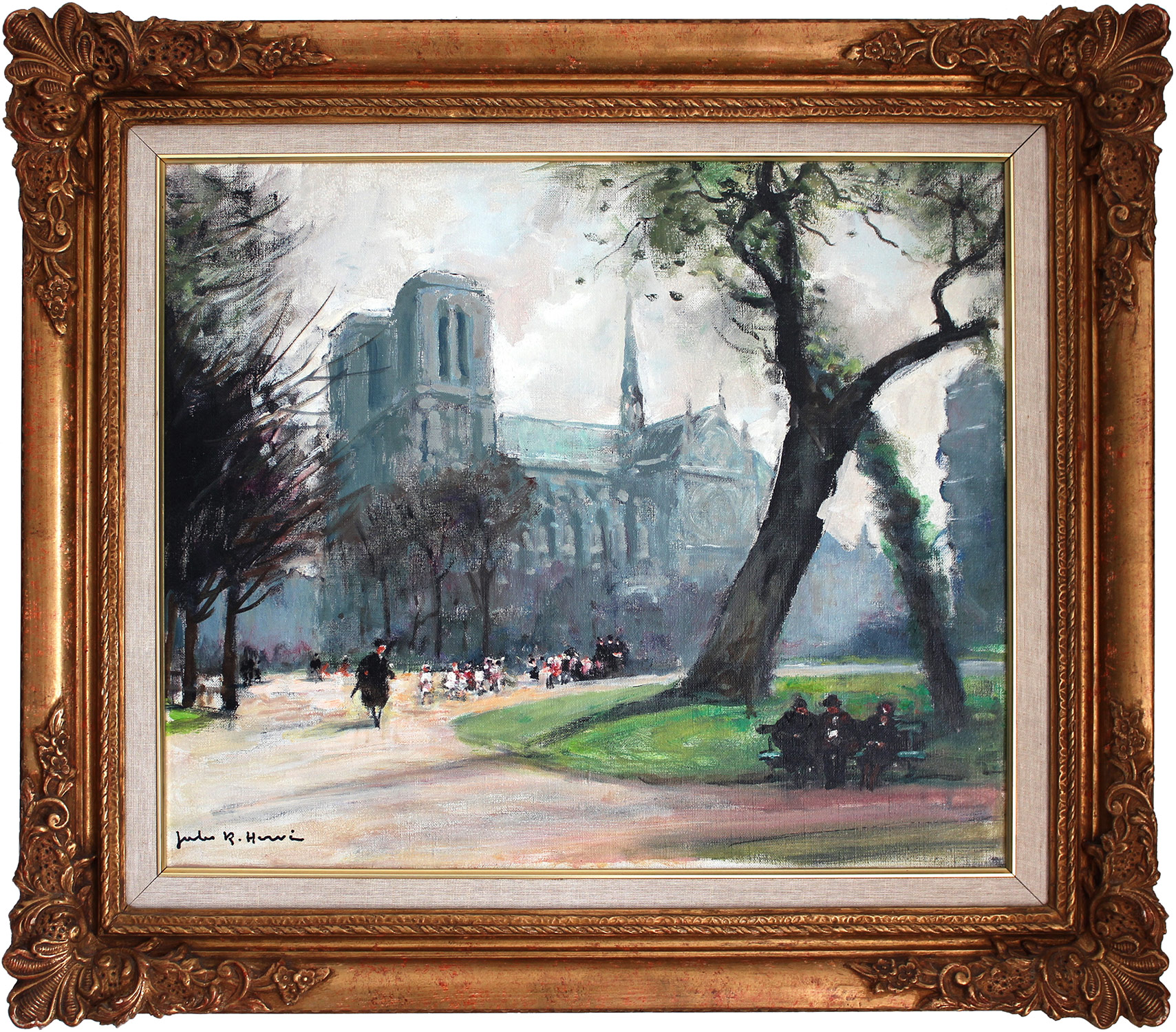 """The Path by Notre Dame"" Early 20th Century"