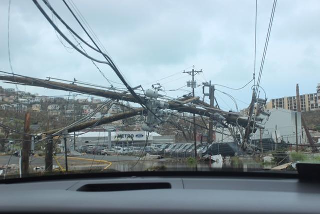 A power pole down