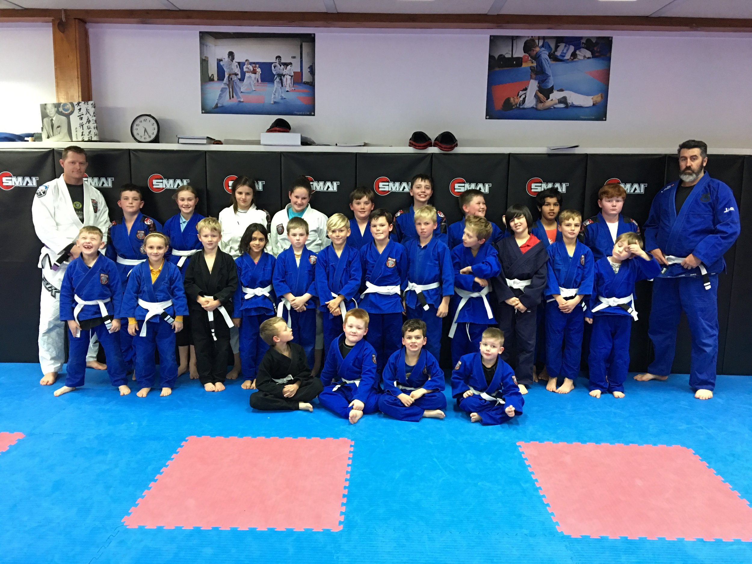 Our kids Bjj or grappling program doing an amazing job progressing very well after a recent grading