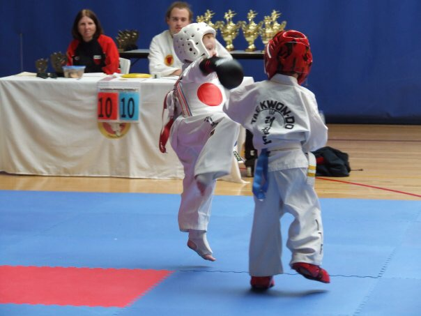 Tom at his first comp. 4 years of age.