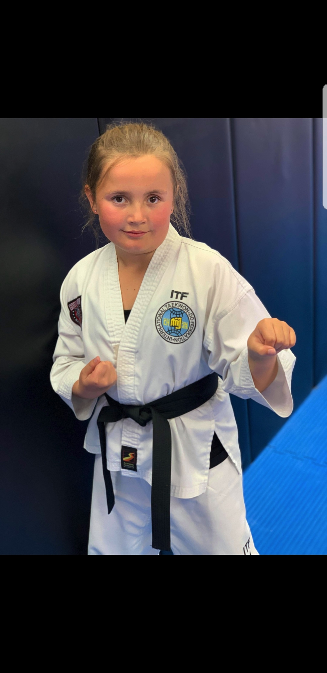 Casey Roberts   Taekwondo has turned out to be just right for me.  My journey started at the age of 5. I was a keen student in the Little Ninja's program.  Taekwondo has given me something to be apart of and a purpose.  It has worked wonders for my self - esteem, my friendships, and my confidence.  I have just  recently attained my 1st degree Blackbelt. 29/ 6 / 19. I am very proud how far I have come.  I want to keep learning.  I want to keep progressing.  I enjoy competing & i am looking forward to many more competition 's in the future.  My brother has been my biggest inspiration. I would like to follow in my brothers foot steps. My brother Cooper is a 2nd degree Blackbelt.