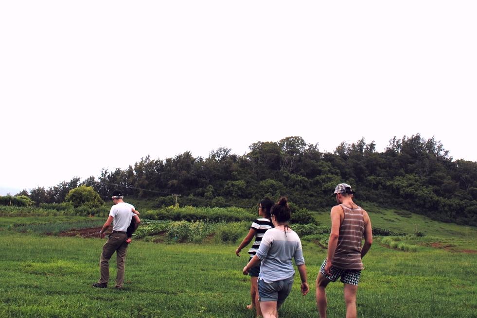 Touring the farm