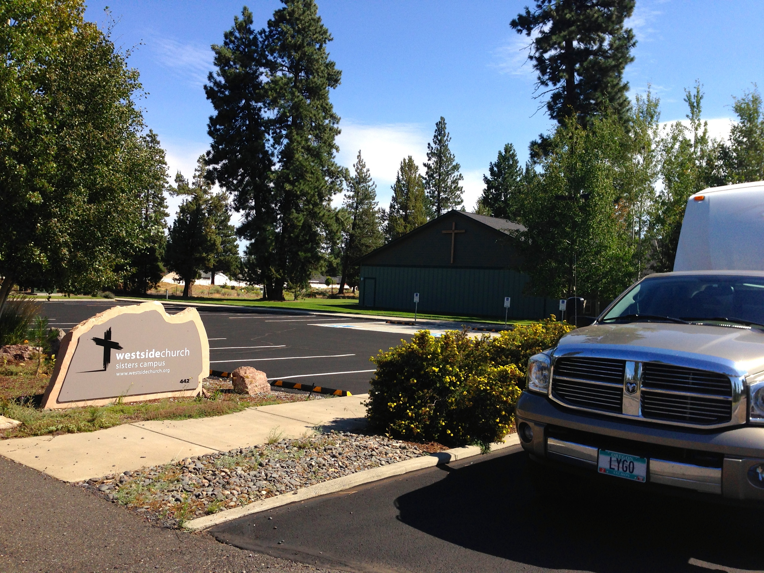 Westside Church in Sisters, Oregon (where Jerry & Lois Kaping pastor).