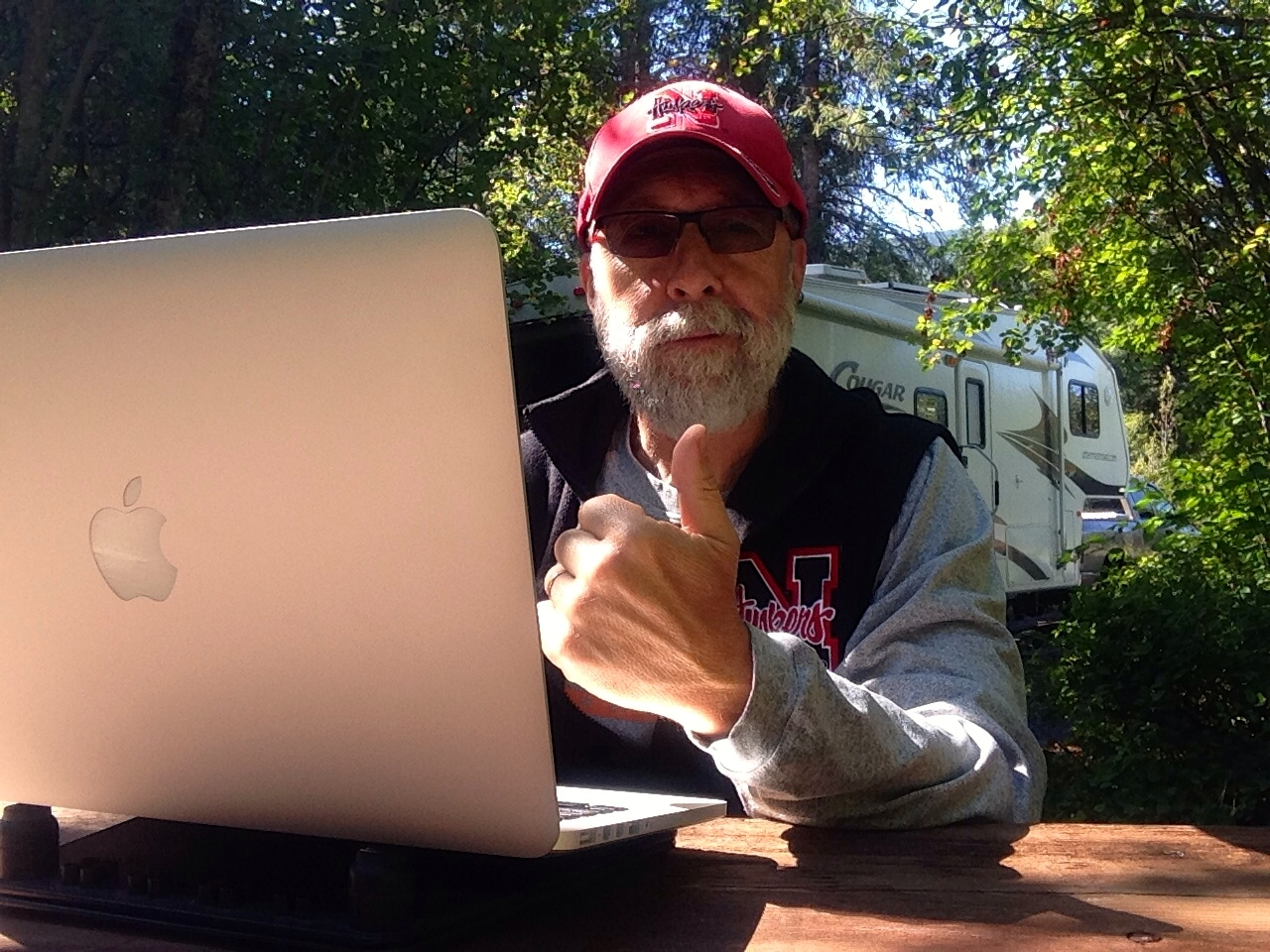 Working on LYGO at Wilderness Gateway Campground...not free but who cares!