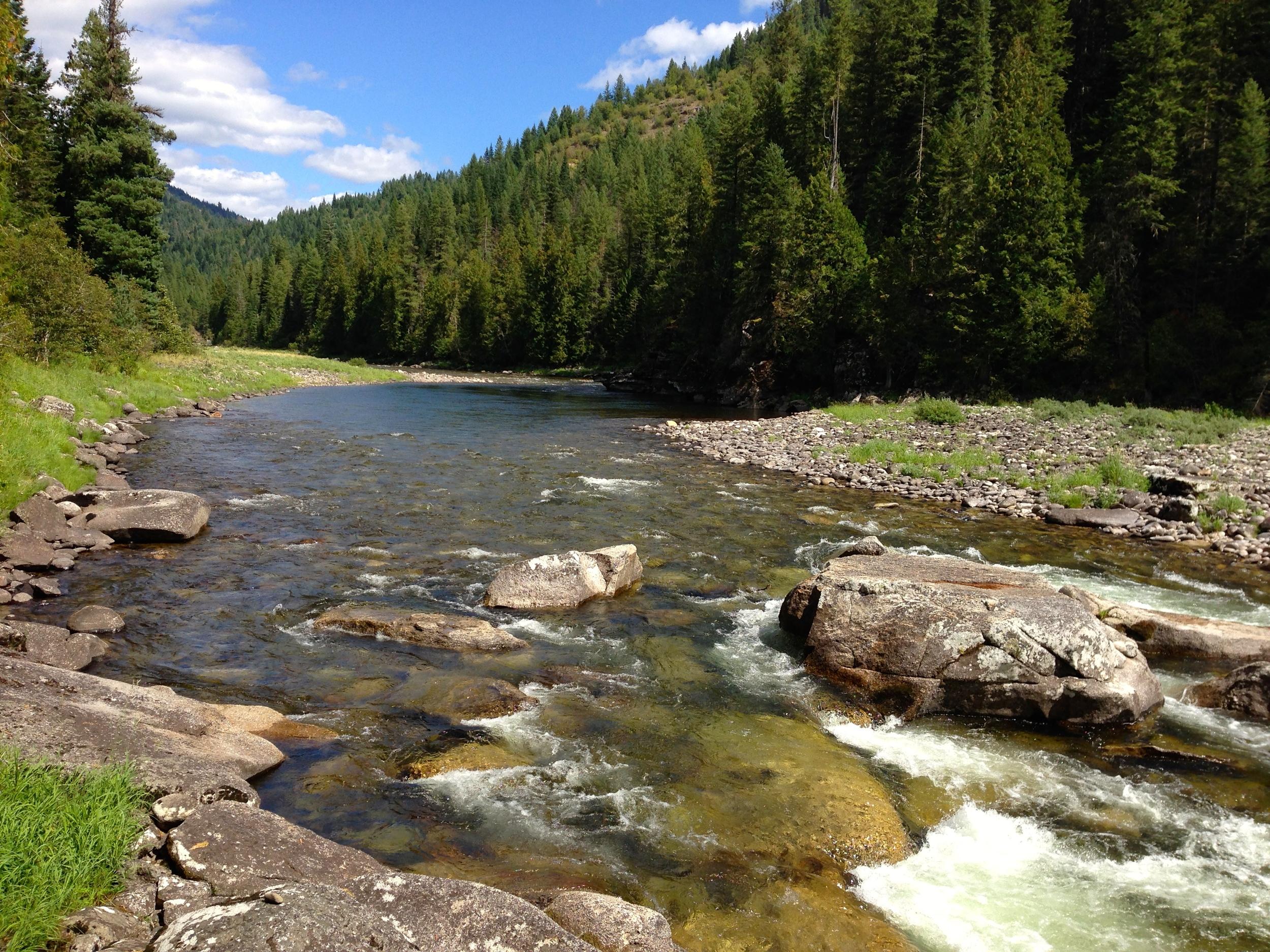 The beautiful Lochsa River