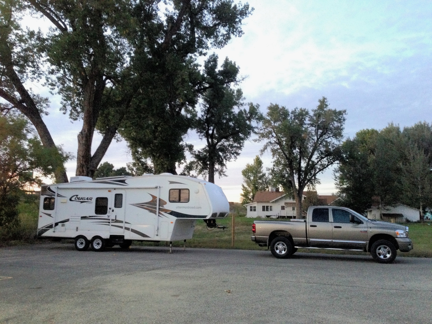 My campsite for tonight next to the Foursquare church in Crow Agency