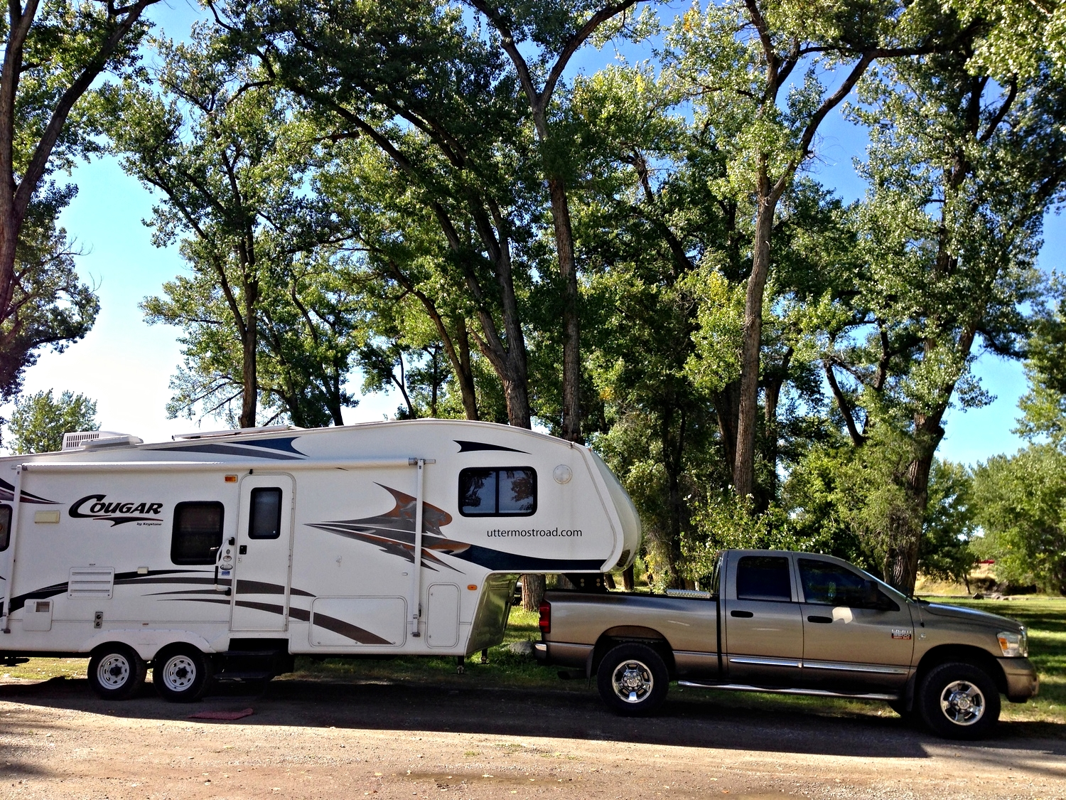A free campsite at Itch-Kep-Pe Park in Columbus, Montana.