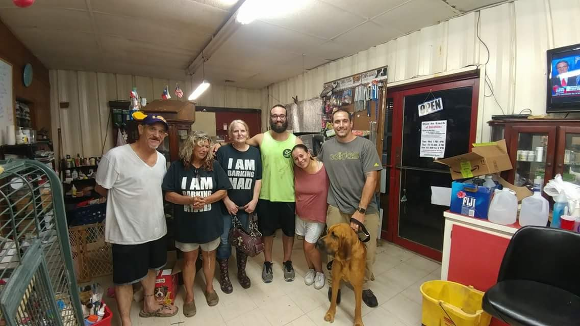 Daniel Reitman and Barking Mad Animal Rescue Team in Texas after Hurricane Harvey.jpg