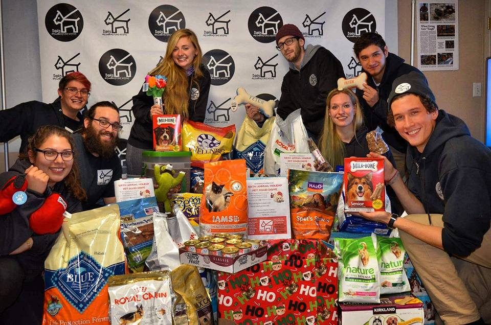 Daniel Reitman with Dan's Dog Walking and Pet Sitting Team, Holiday Pet Food Drive Donations.jpg