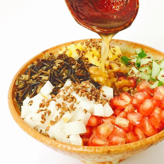 Wide rice & Fresh Pomegranate Mixed Salad