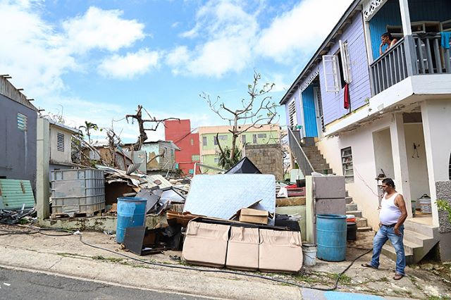 On October 15th, 2017 Hector Manuel Roque looks at what's left of his property after Hurricane Maria took it down. The house consisted of 3 bedrooms, living room, and a bathroom. At the time the photo was taken it had been 3 weeks since the hurricane hit the island, yet nobody from the federal, nor local government had contacted the family or inquired about their needs. Meanwhile, rats were taking over the property at night turning the pile of debris into their playground, increasing the proliferation of diseases.  Today marks the 6th month since Puerto Rico was hit by the hurricane. Almost 100 000 American citizens continue to live without power.  #OnAssignment #PuertoRico #Canon #notiphone #photojournalism #politics #HumanRights #HurricaneMaria #UnidosPorPR, #PuertoRicoRelief, #HelpPuertoRico #PrayForPuertoRico