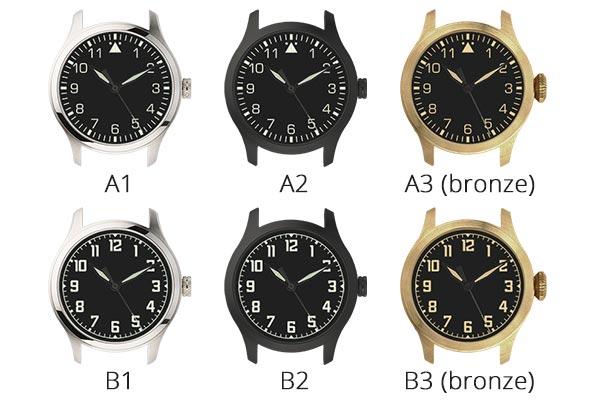 工作坊包括一隻44mm Navigator系列個人化機械手錶 選擇A1 - B3 Bronze款式中其中一款