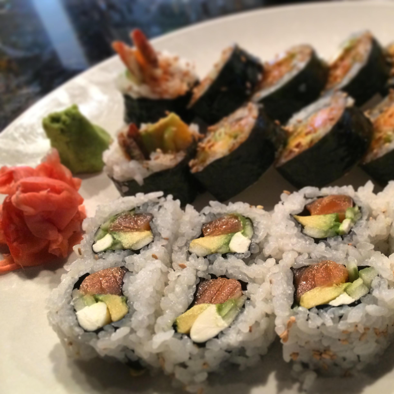 Shrimp tempura & Philadelphia rolls