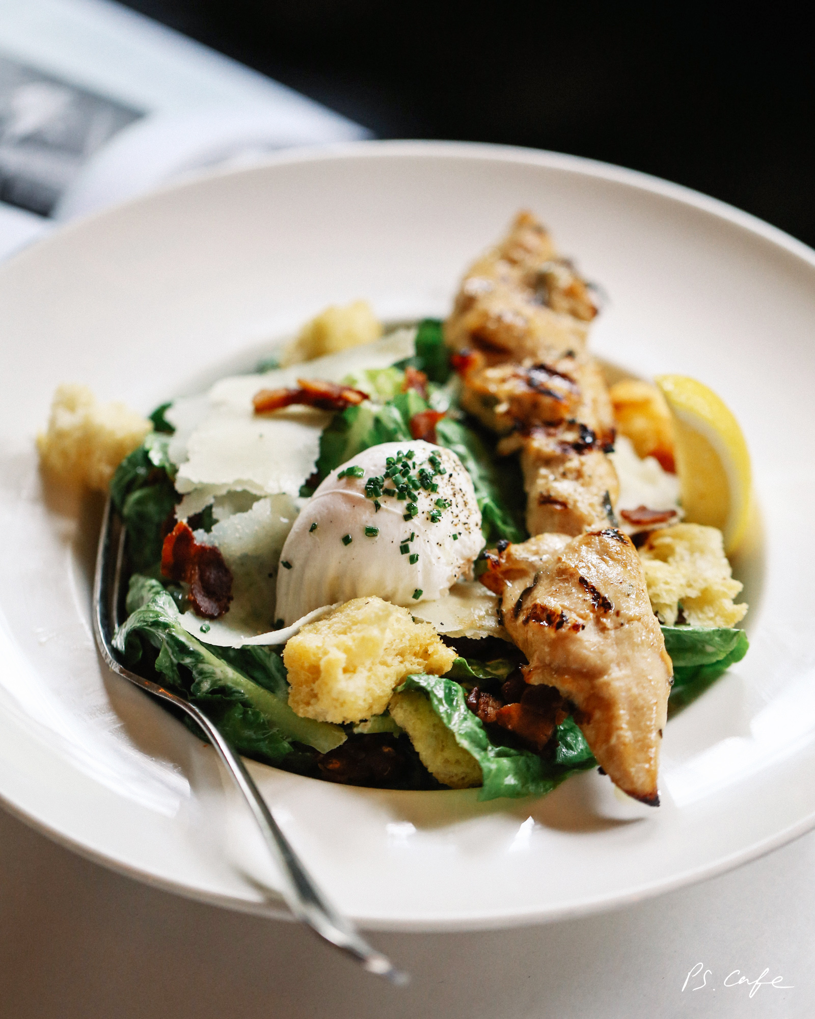 PS Caesar Salad with rosemary grilled chicken