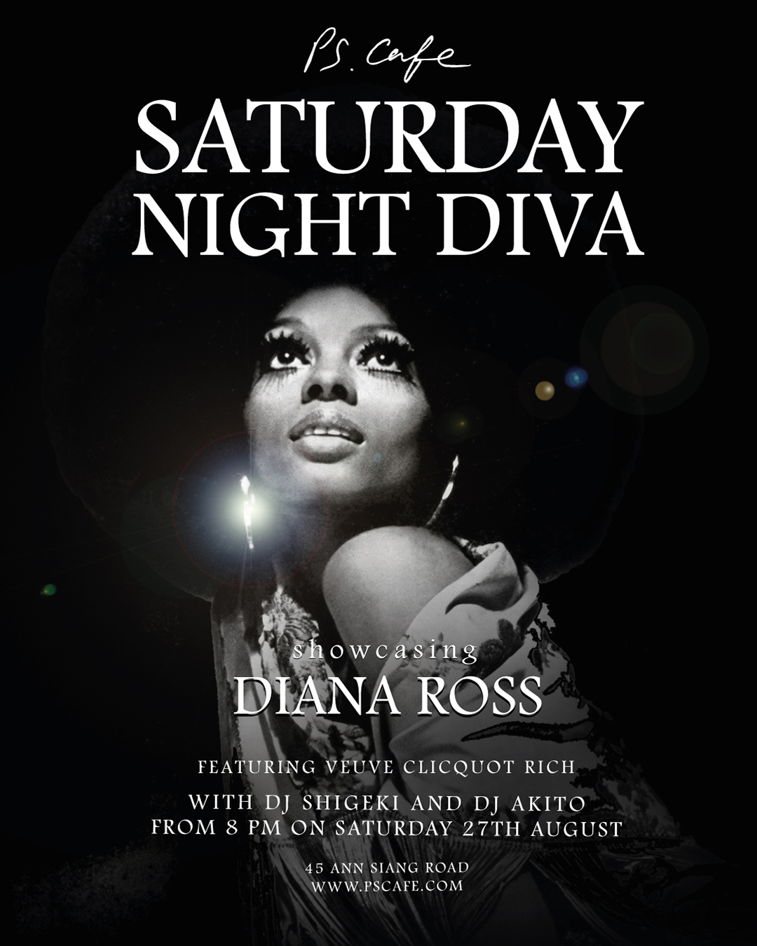 Join us at Ann Siang for our Saturday Night Diva, showcasing Diana Ross. Bring along your friends, drink and be merry!  Event details   here!