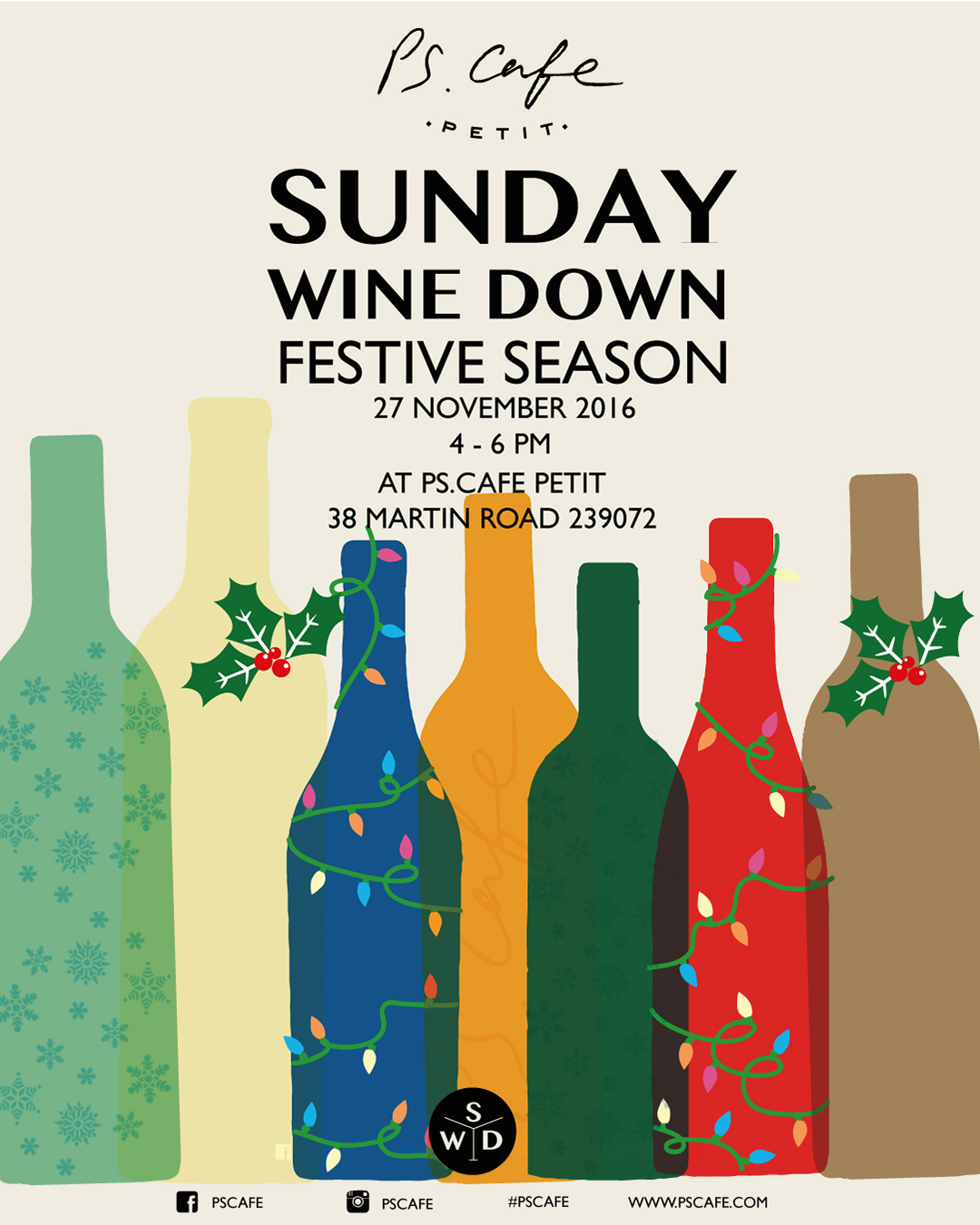 The most wonderful time of the year. Whether you're looking for wines to match, to festive fare, gift ideas or a coping mechanism, we've got you covered. Sunday Wine Down is our end-of-the-month friendly walkabout wine tasting with fantastic discounts on purchases of six or twelve bottles. Share in our passion for fine wine.    Event Page   here !