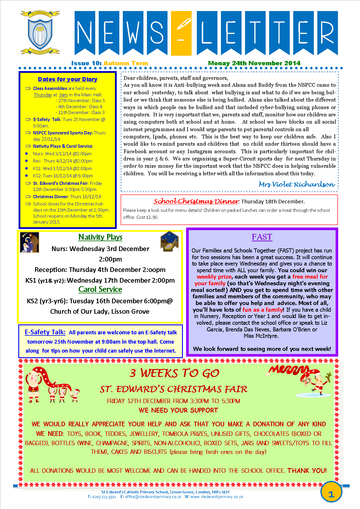 1St Edward's Newsletter Issue 10 24th November 2014.png