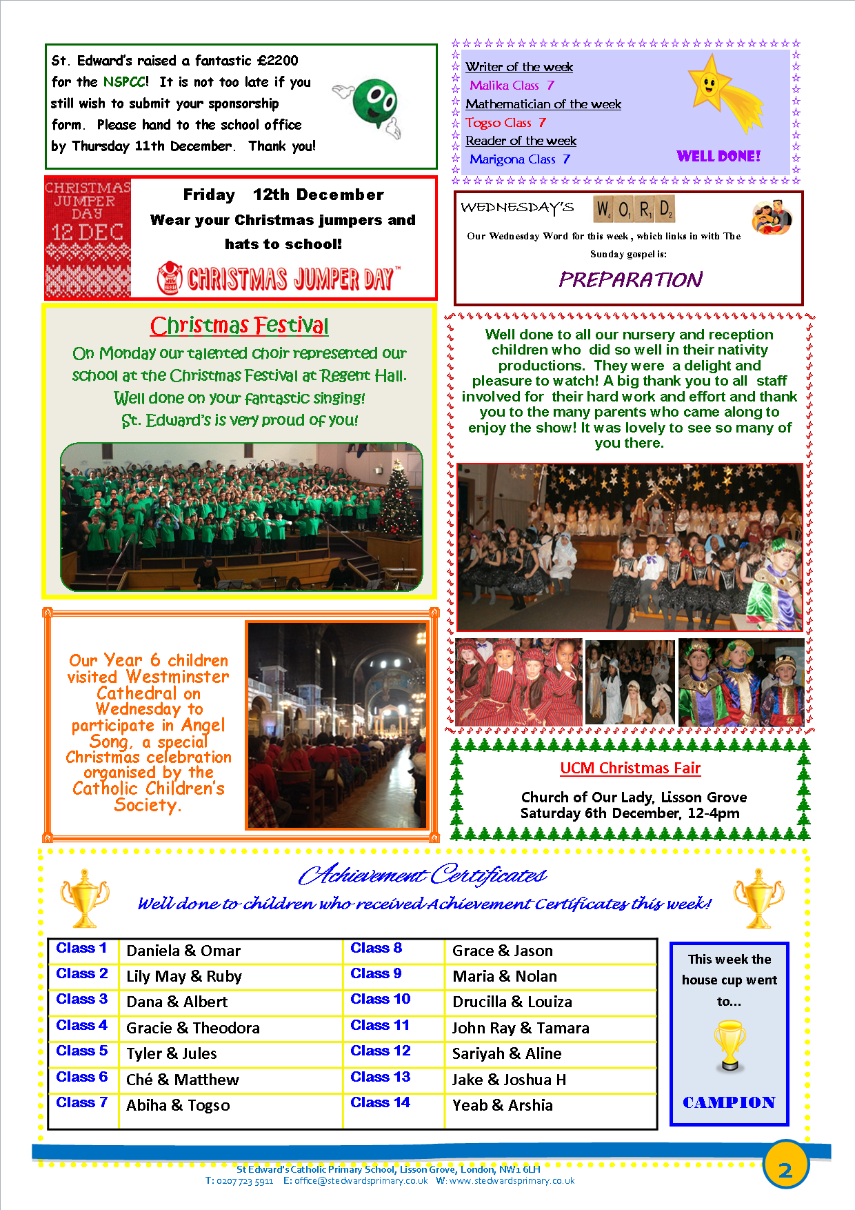 2St Edward's Newsletter Issue 12 5th December 2014.png