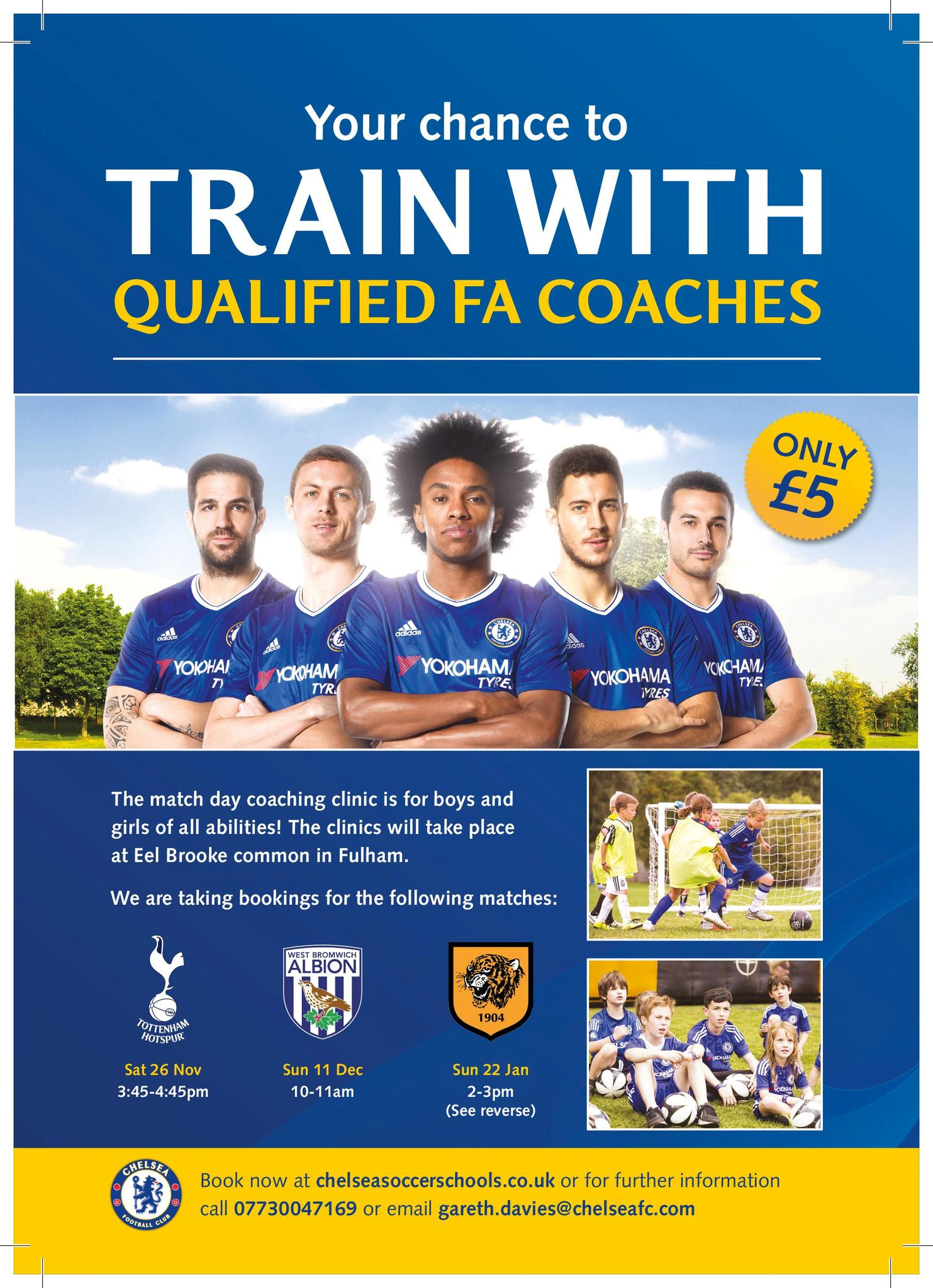 Here is a fantastic opportunity for all our football stars! Please book your place using the contact details above.