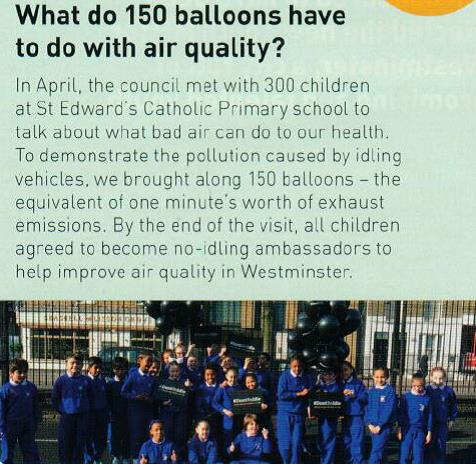 St. Edward's features in the Westminster Children First magazine!