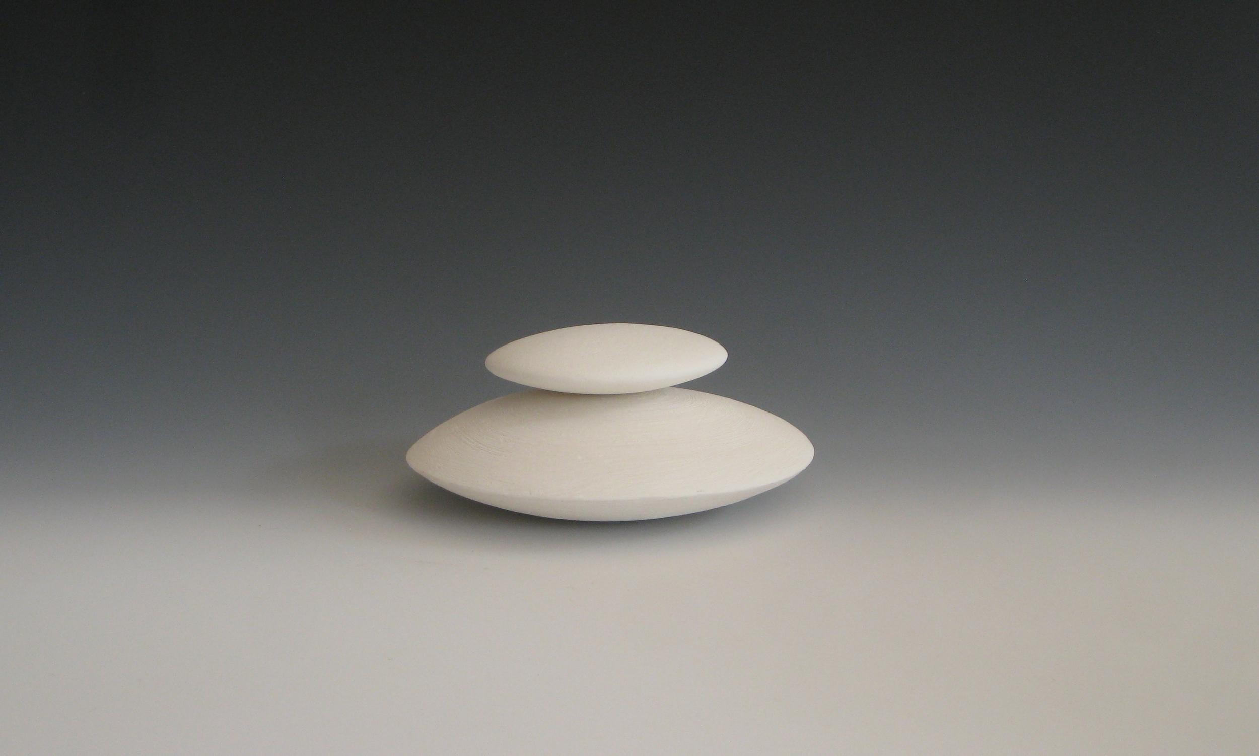 Stacked Discs - White