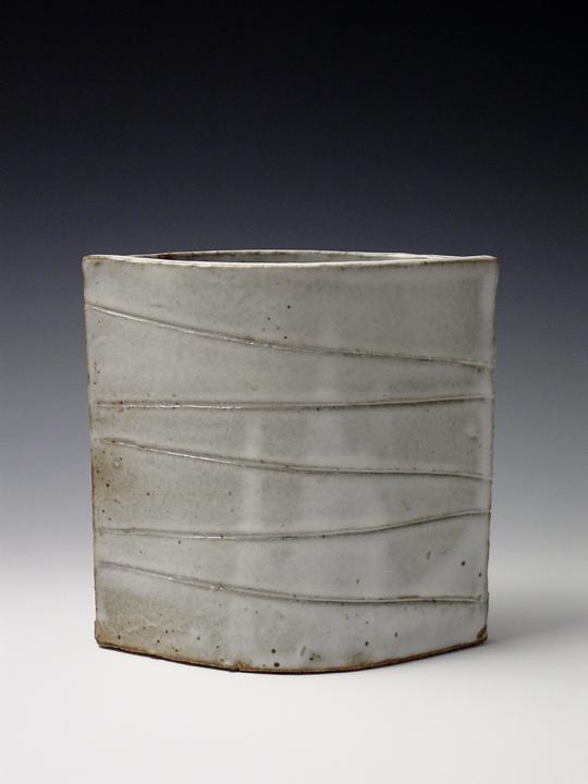 White Drip Vase