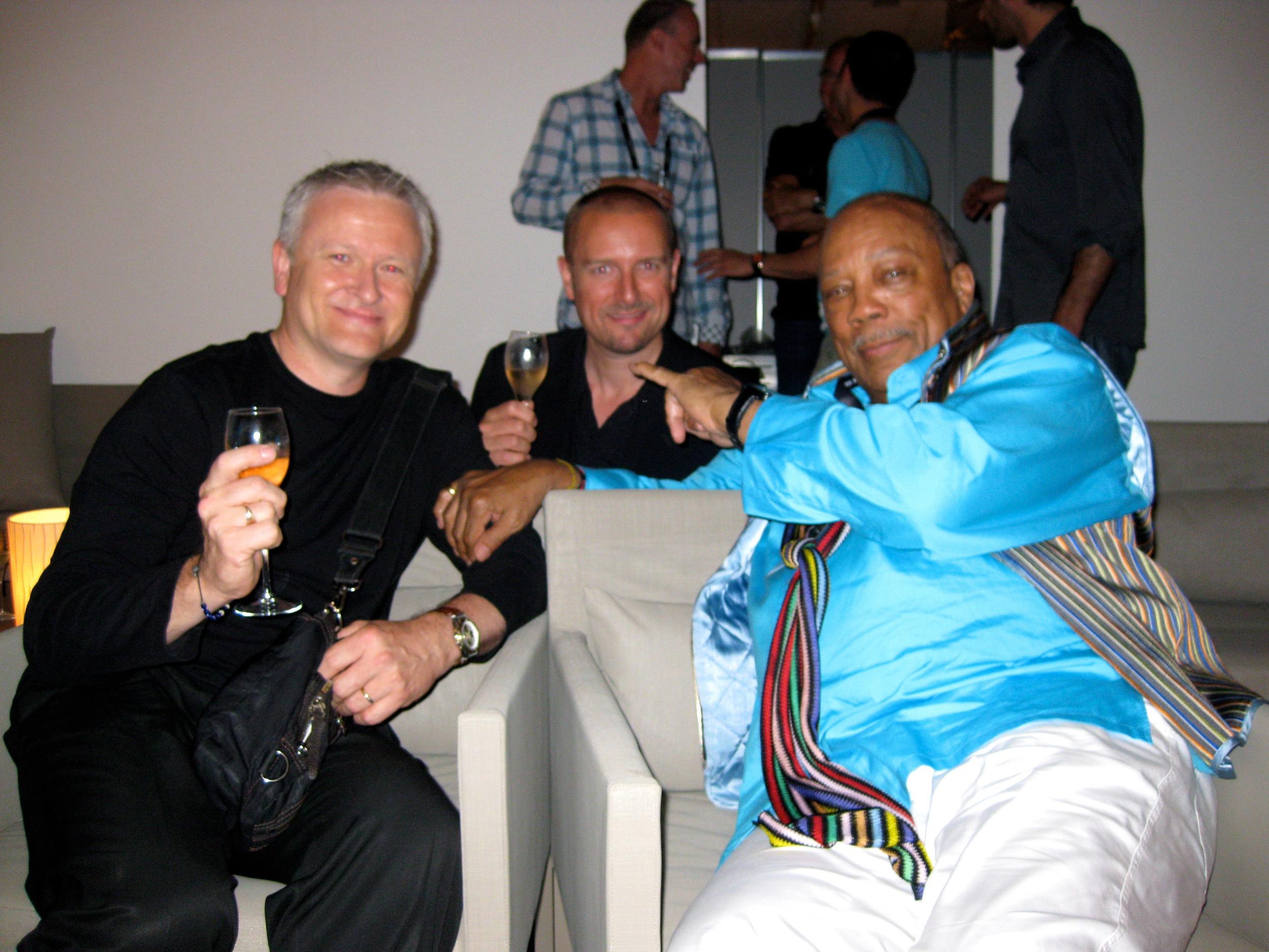 Montreux Jazz Festival, 2010. Mike Lovatt, MW, Quincy Jones