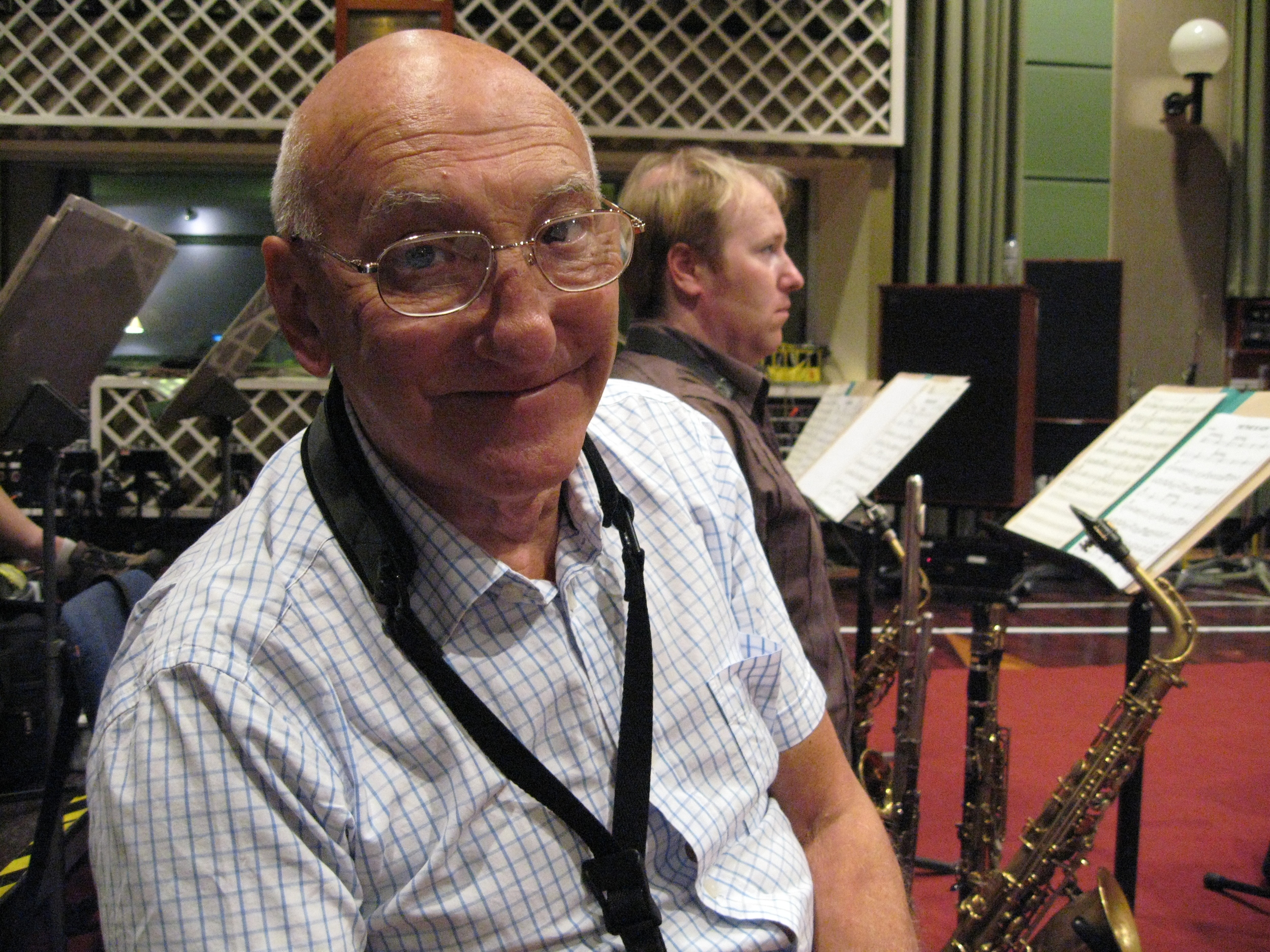Vic Ash, 2007. I sat next to the great Vic for over ten years in the BBC Big Band.