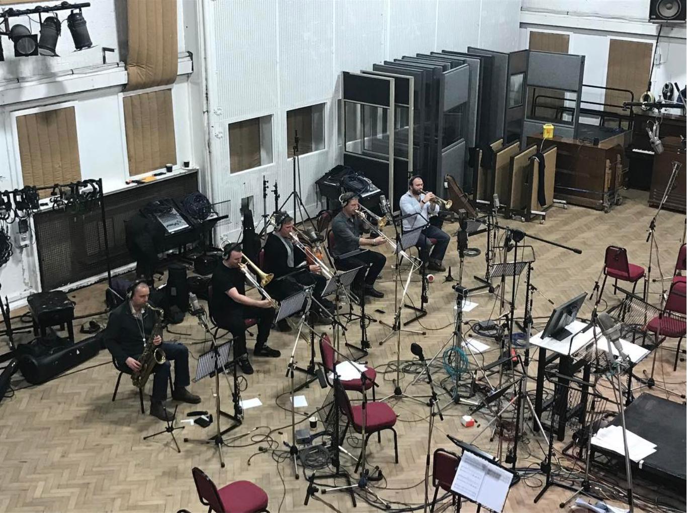 Recording brass with alt-J. Abbey Road Studio 2, January 2017