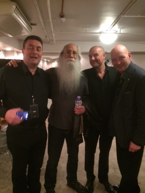 Backstage at the Albert Hall with Leland Sklar