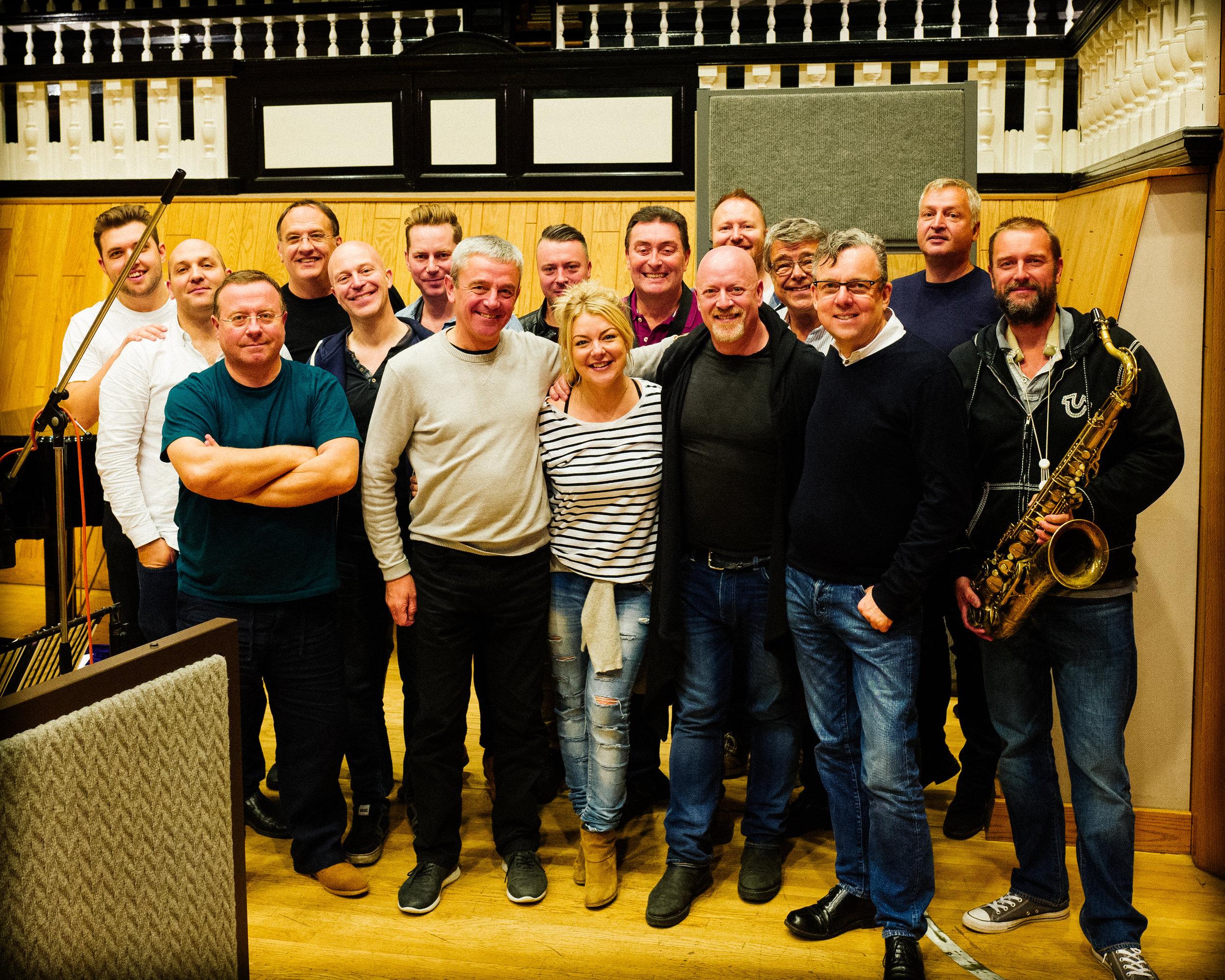 Recording with Sheridan Smith, Angel Studios, September 2017
