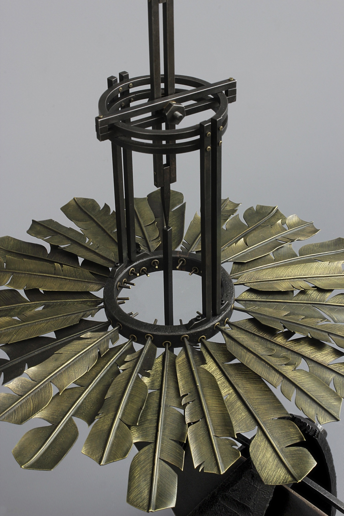 tail feathers - mild steel, brass, 2013