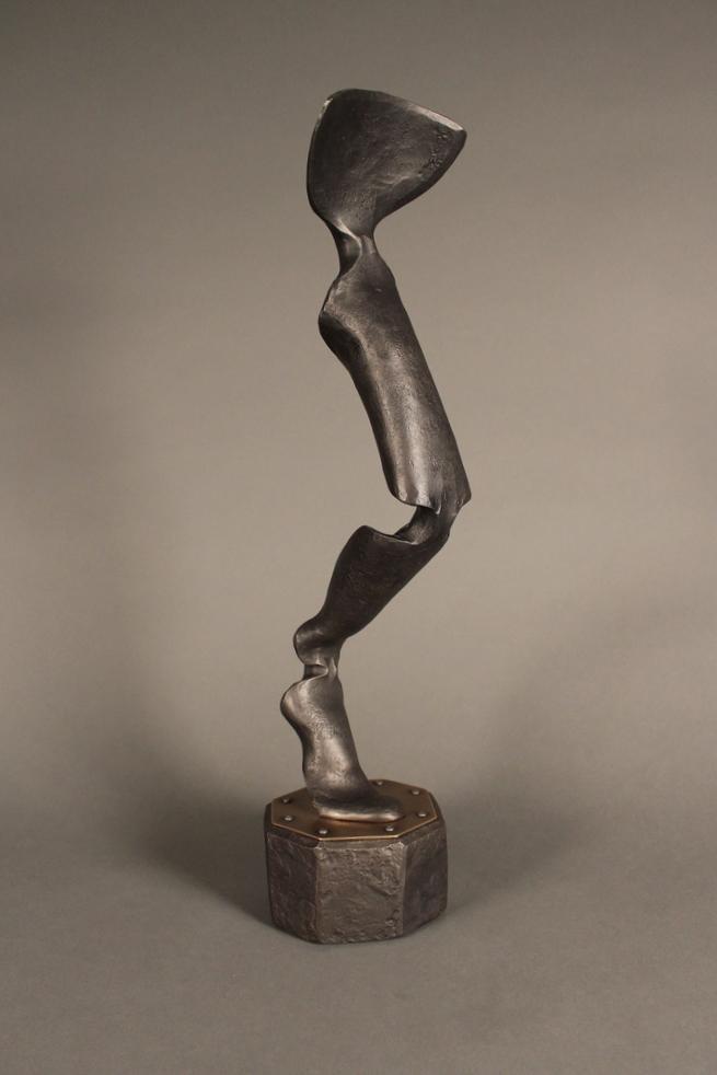 crural - mild steel, brass, 2012