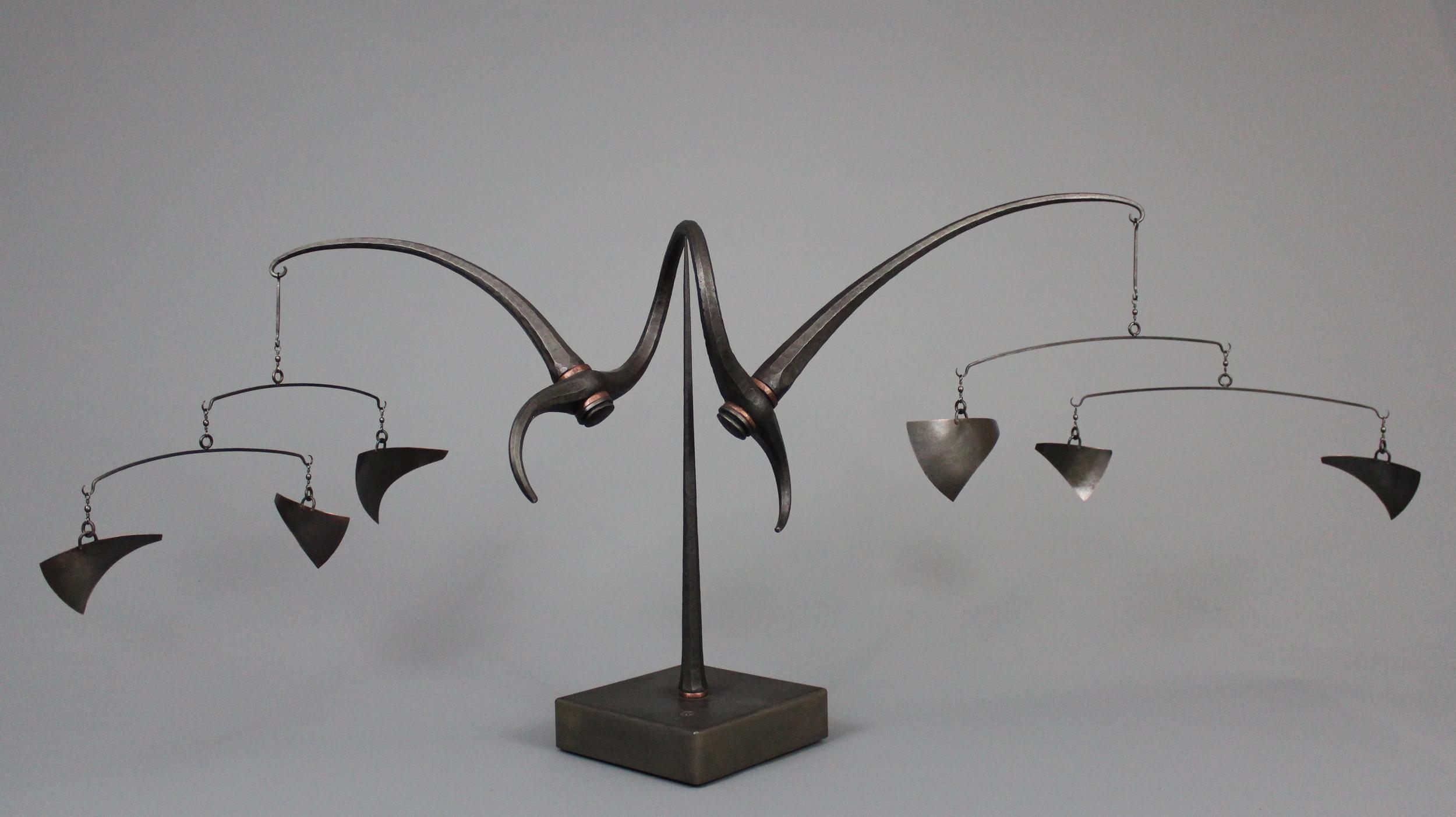 untitled - mild steel, copper, 2012