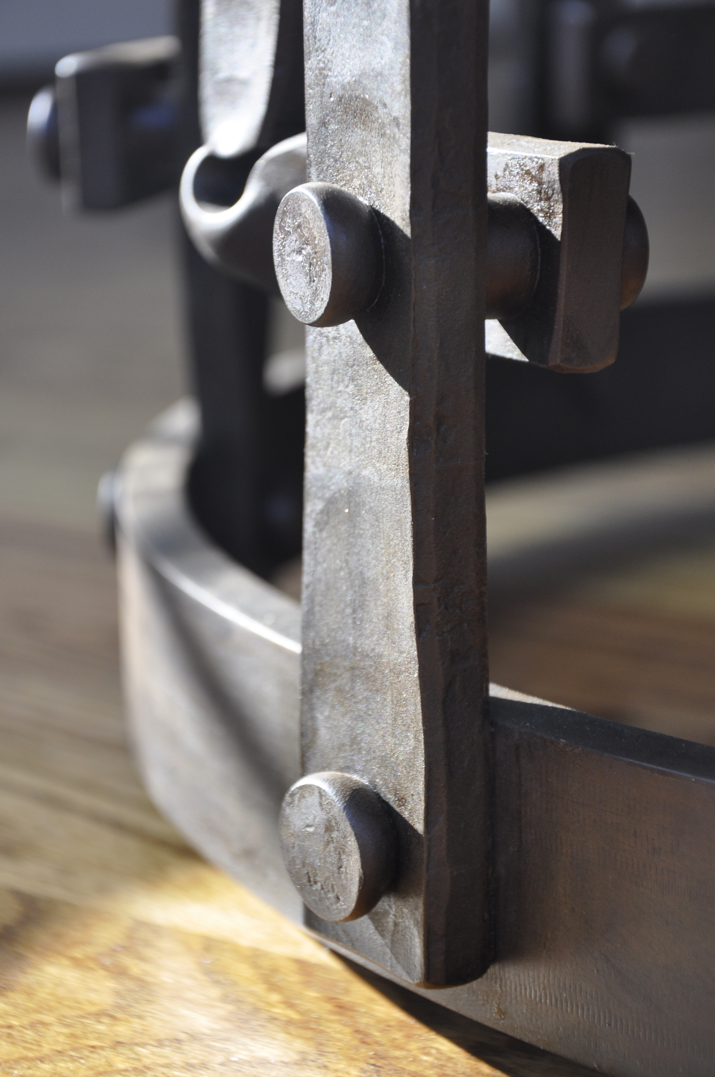 Forged & Riveted Table Base