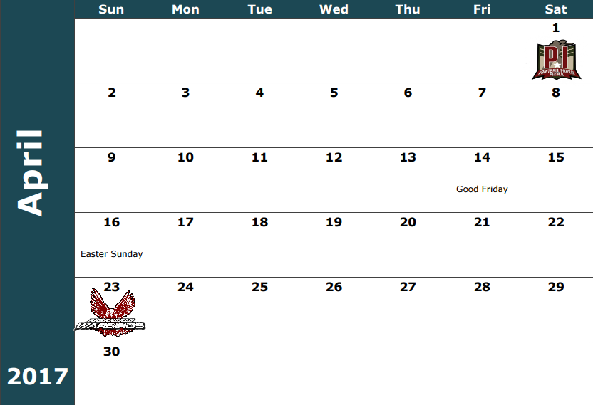 April 1 - MPPL Tournament  April 23 - Warbirds Practice / Sunday Challenge