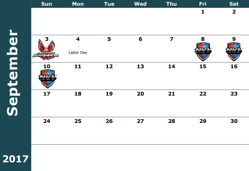 September 3-Warbirds Practice / Sunday Challenge September 8-10- NXL Chicago