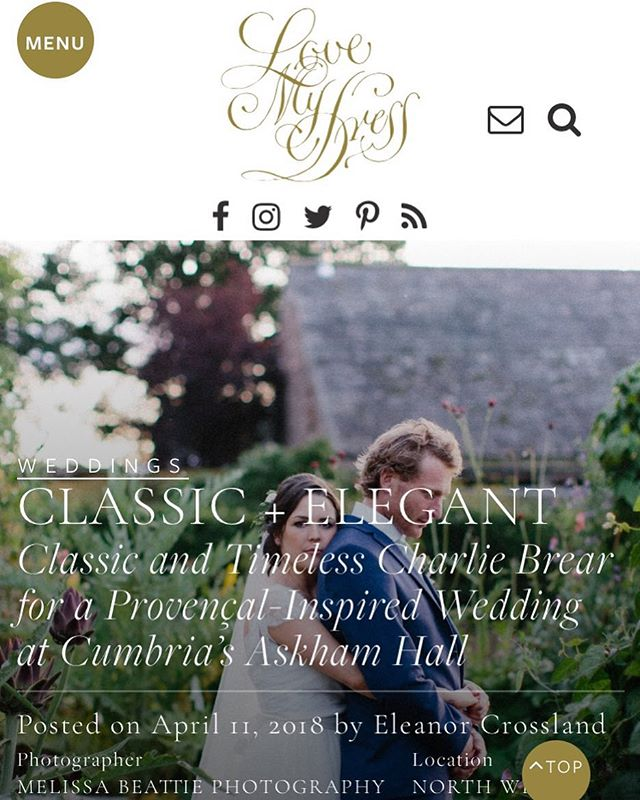 Proud to be part of the team for my lovely friends wedding as featured @lovemydress today. Follow the link at lovemydress.net/jen-ed @melissabeattiephotography @tebbeyandco @narrativehire @madeinflowers @bymoonandtide @whiteclosetstudios @askham_hall