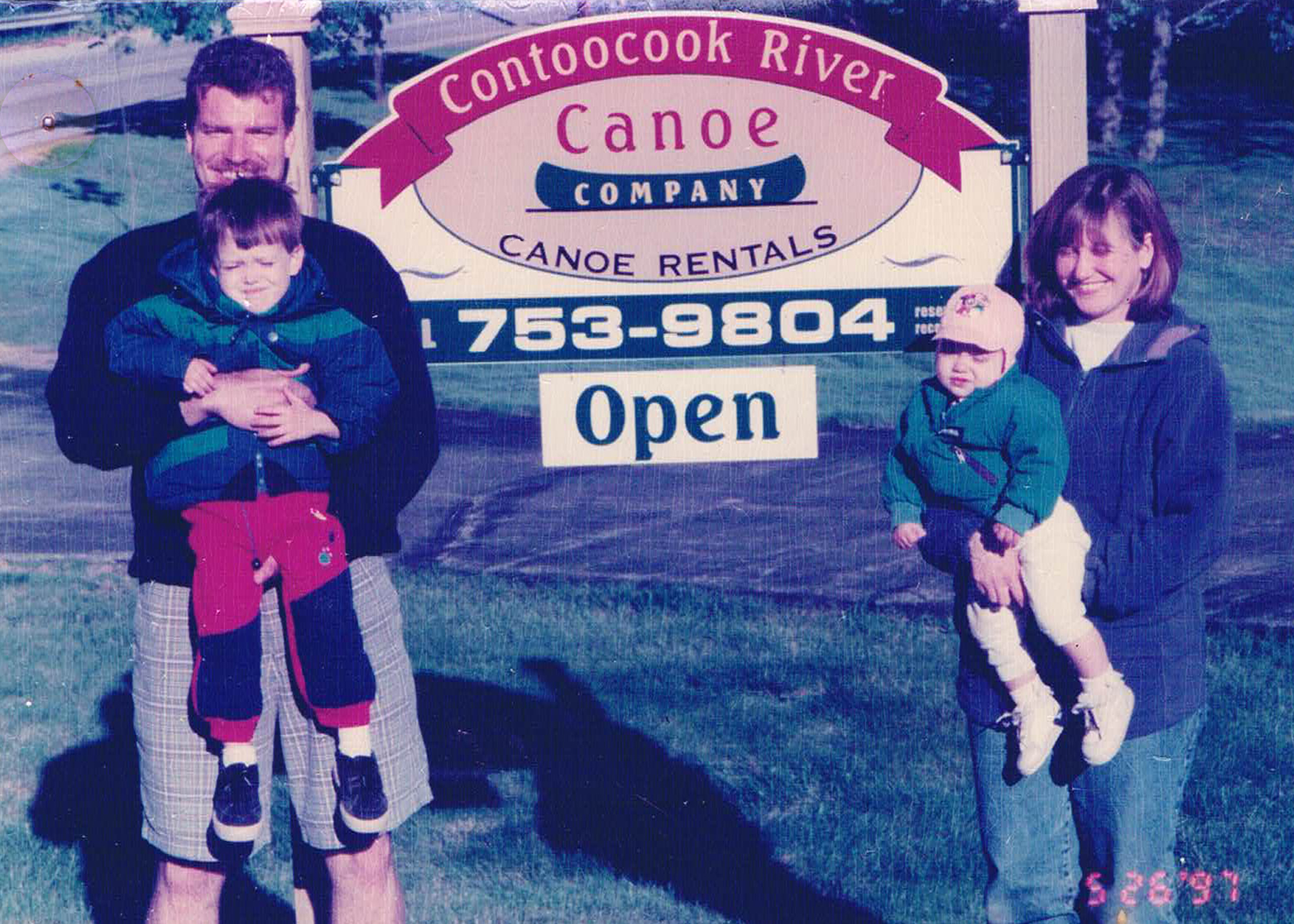The Malfait family on the first weekend of business in May of 1997. Both our children are now out of college and in professional careers.