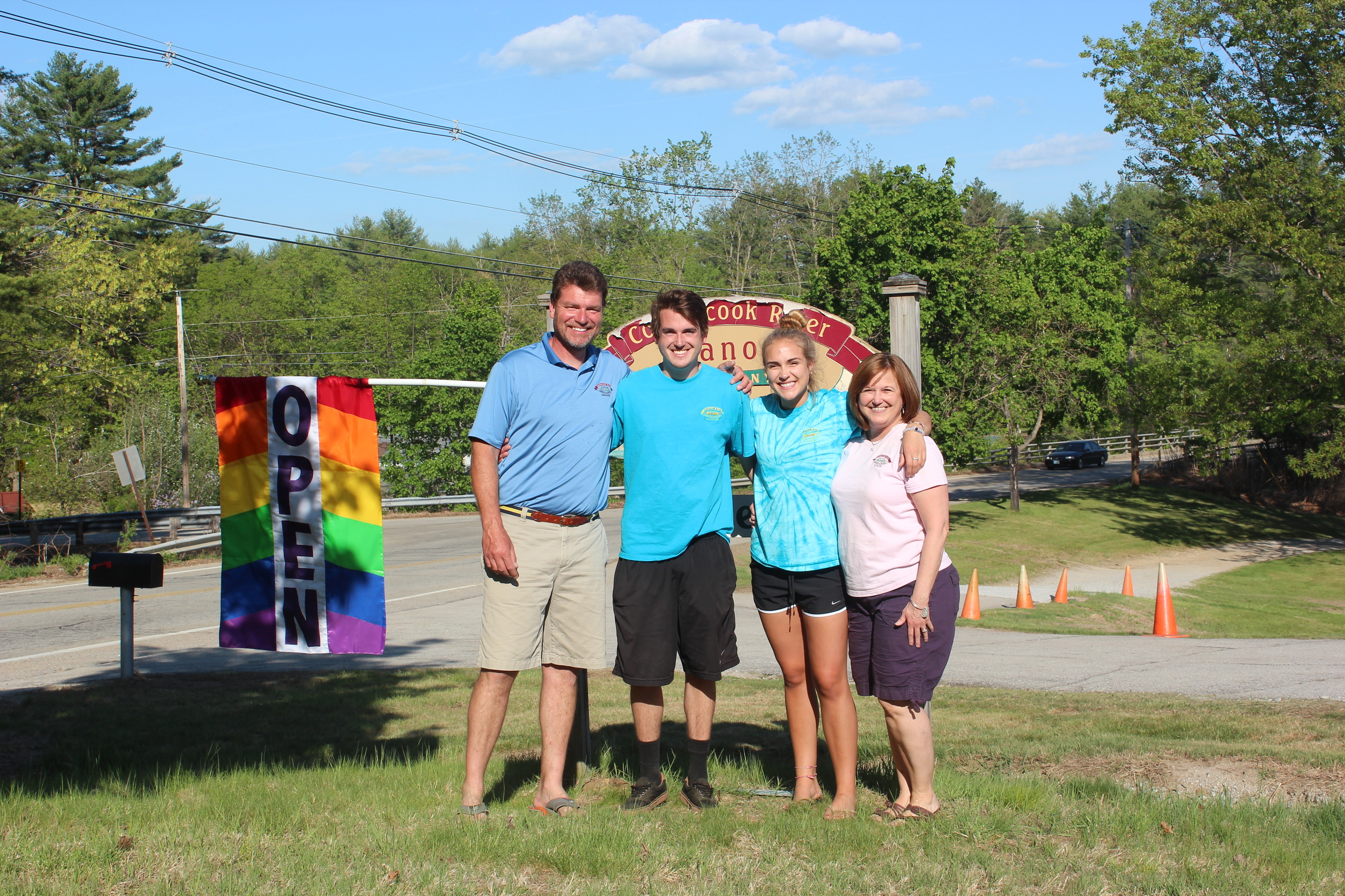 The Malfait Family.From left to right: Pat, Ryan, Jess and Lisa