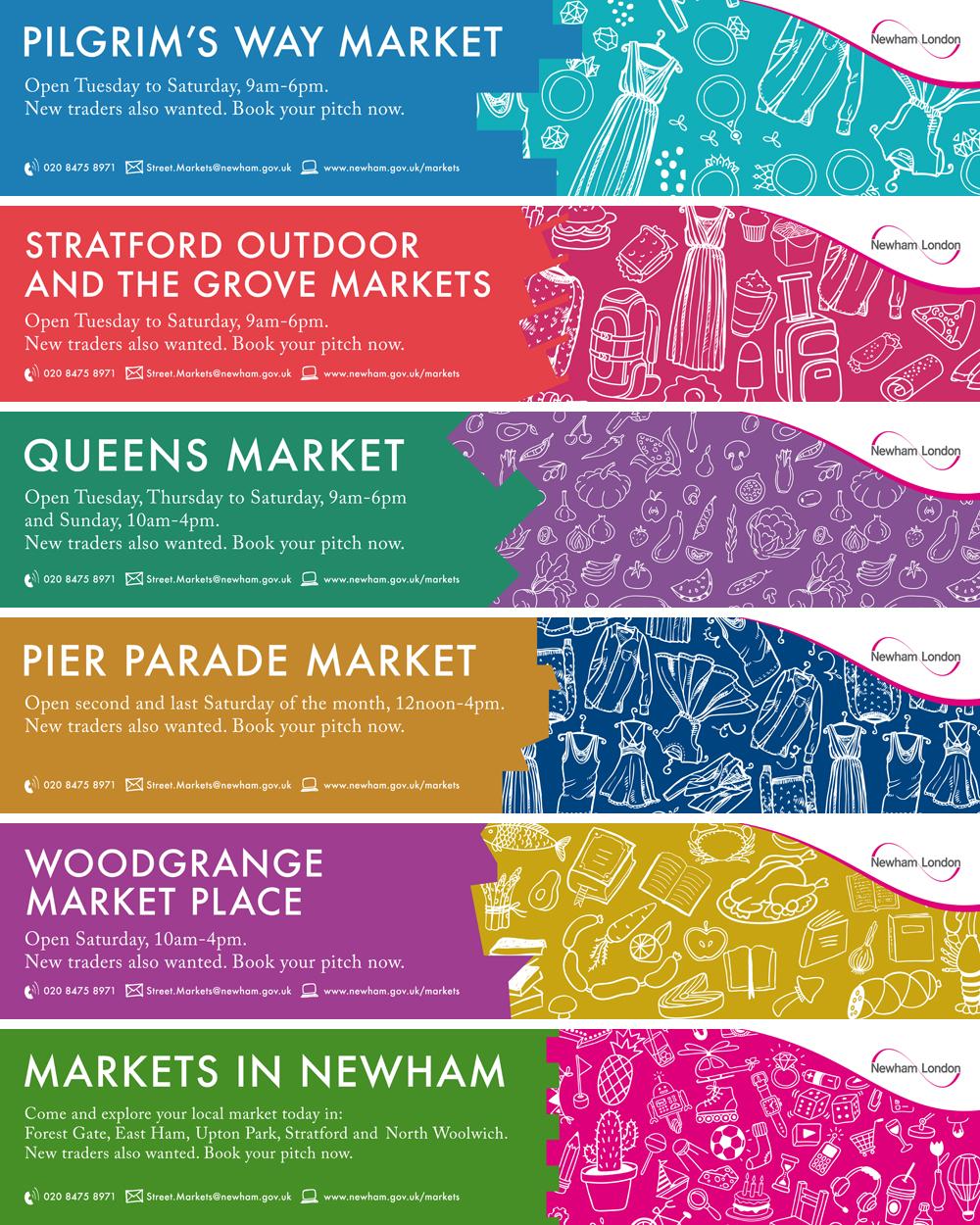 Newham market street banners