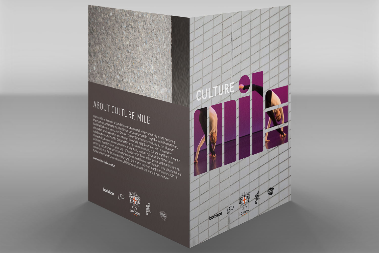 Culture Mile press pack folders