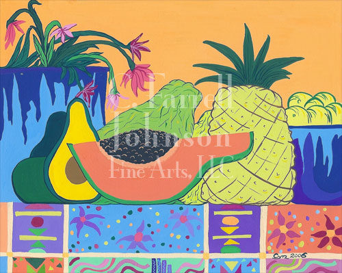 "Tropical Delight  4-1/4"" x 5-1/2"" $20.00 for set of 12"