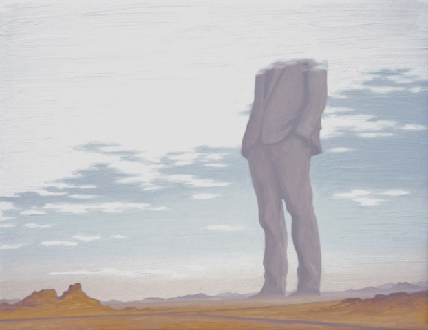 """""""Colossus of the West""""   Oil on panel   8 7/8"""" x 11 1/2"""""""